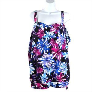 Swimsuits For All Tankini Swim Top Floral Print